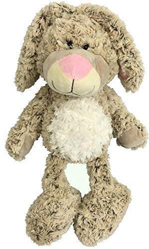 Bunny Stuffed Animal Plush Toy - Cute Soft Bunny Rabbit - Fluffy Beige White Floppy Eared Bunny - Great Easter Gifts Cuddles