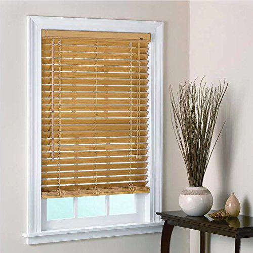 Yankee Trader 35 in. x 64 in. Bamboo Wood Blinds with 2-inch Horizontal Slats