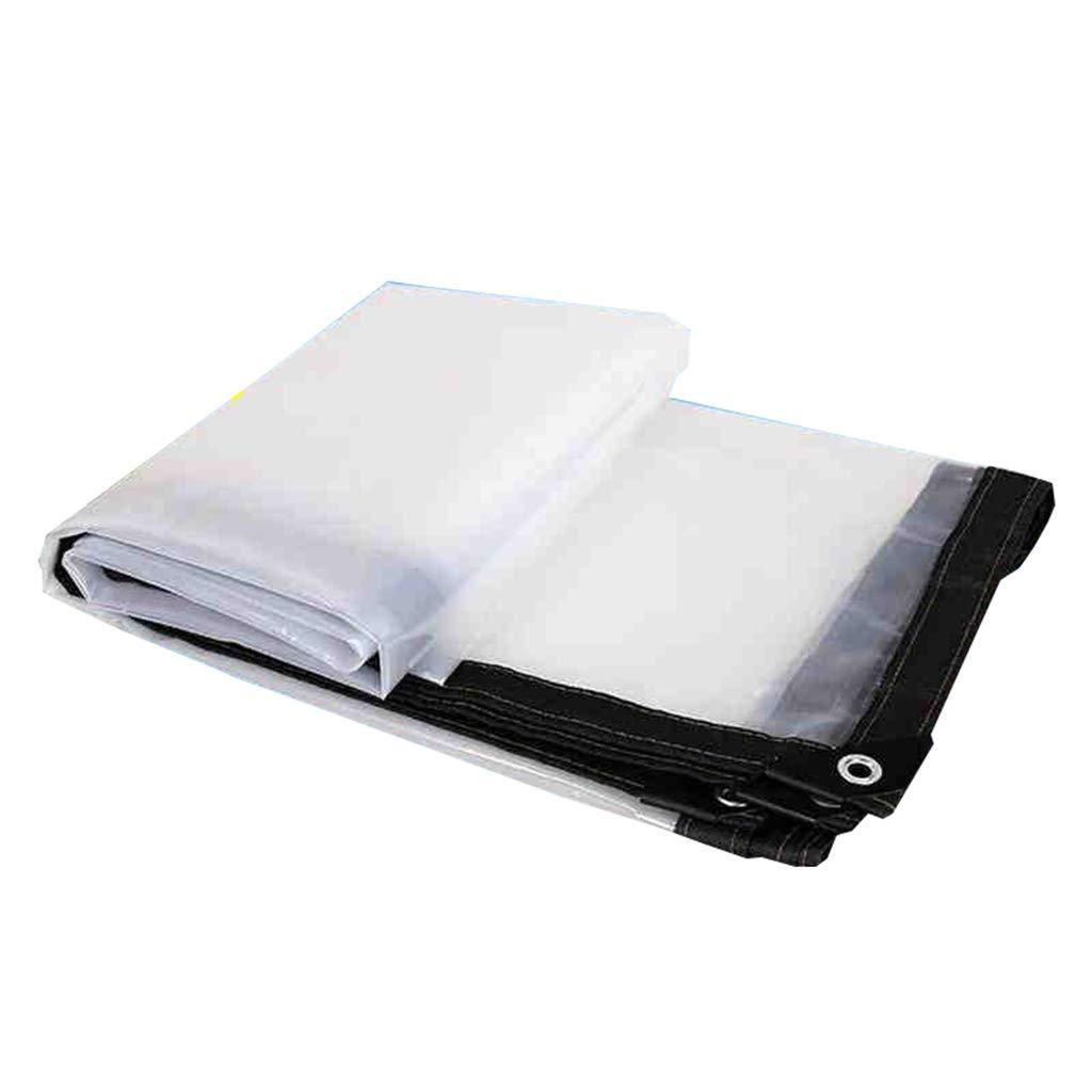 LYXPUZI Bordures Transparentes BÂches en Plastique Fenêtre en Tissu Tissu Coupe-Vent Fleur Tissu de Pluie Grand Film de Remise