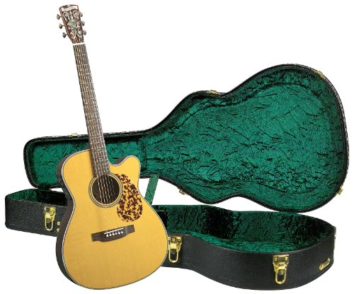 Blueridge BR-163CE Historic Series Cutaway Acoustic-Electric 000 Guitar with Deluxe Hardshell Case
