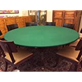 Good Green Felt Poker Table Cover   Green Fitted Tablecloth   For Round 48 Inch  Table
