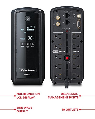 CyberPower PFC Compatible Pure Sine Wave Tower UPS