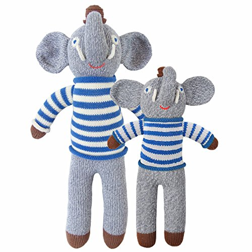 (Blabla Rivier The Elephant Mini Plush Doll - Knit Stuffed Animal for Kids. Cute, Cuddly & Soft Cotton Toy. Perfect, Forever Cherished. Eco-Friendly. Certified Safe & Non-Toxic.)