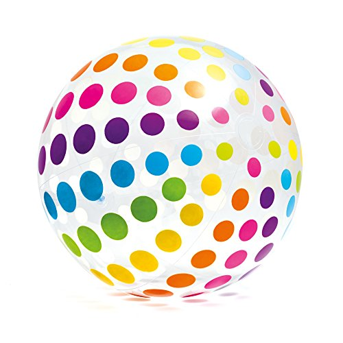 (Intex Jumbo Inflatable Glossy Big Polka-Dot Colorful 42 Inch Giant Beach)