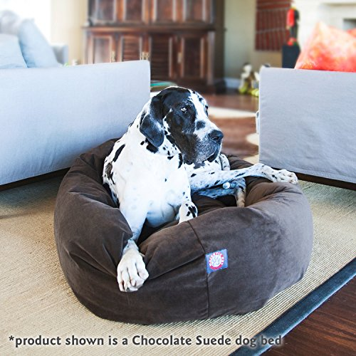 40 inch Stone Suede Bagel Dog Bed By Majestic Pet Products by Majestic Pet (Image #7)