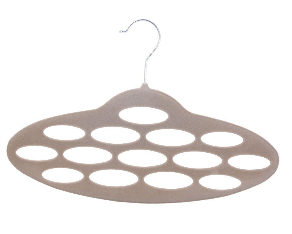 PetOde niceEshop(TM) High-Grade Flocking Creative Porous Oval Necktie Scarf Rack Holder/Belt Hanger -Random Color +Free niceEshop Cable Tie