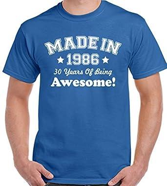 Fabricado en 1986 - 30 años de Being Awesome - Camiseta para ...