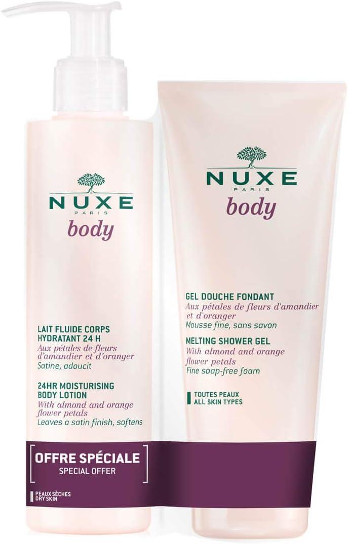 Nuxe Body Pack 24hr Moisturising Body Lotion 400ml + Melting ...