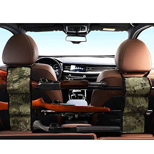 (Seat Back Gun Rack - Sling Storage Organizer with Pockets For Rifle Hunting - Hunting Gun Organizer Holder Rack Accessories For Hunting Shotgun in Cars Trucks SUV Python Camo 1 Pair (2 pieces))