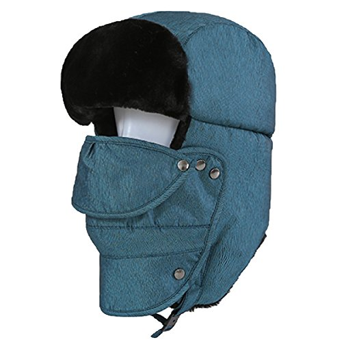 Viento Máscara A El Warm Bomber Flap Hiking Ushanka Unisex Winter Prueba Esquí De LakeBlue SOOCO De Hat Winter Mens Para Ear Patinaje qzXnwpB