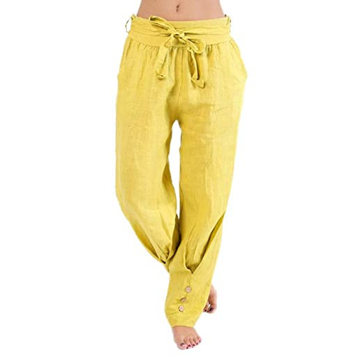 1ff0475d0b3 Image Unavailable. Image not available for. Color  YANG-YI Women Plus Size  Casual Loose Harem Yoga Pants Casual Solid ...