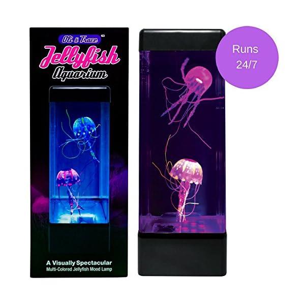 Oli Trace Jellyfish Aquarium Mood Lamp 2 Artificial Jelly Fish