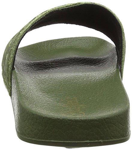 Buffalo Women's SN Miami Velvet Mules Green (Olive 06) HOOx215Kfo