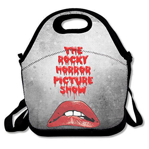 [Bakeiy The Rocky Horror Picture Show Lips Lunch Tote Bag Lunch Box Neoprene Tote For Kids And Adults For Travel And Picnic] (Male Costumes Rocky Horror)