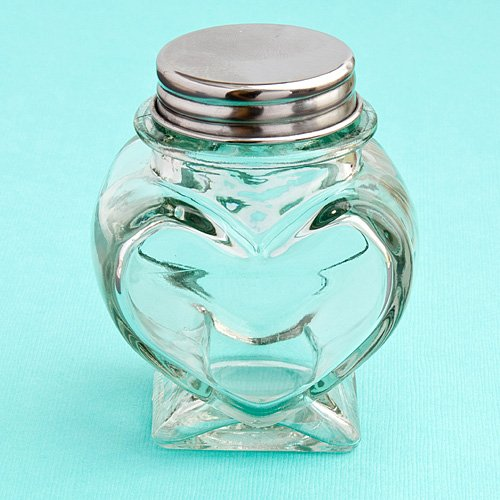 Small Heart Shaped Glass Cookie And Treat Jars , 192 by FavorOnline