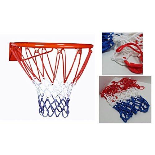Lot 2 Filet de panier basket Tricolore France Bleu Blanc Rouge 12 trous