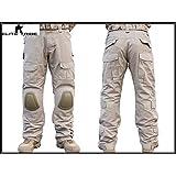 Homme Tenues de Combat Pantalon Militaire Paintball Gen2 Tactique Pantalon et Genouillères Tan