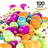 100 Count Easter Eggs Colorful Designed Fillable Easter Eggs Easter Egg Hunt Fillable Eggs