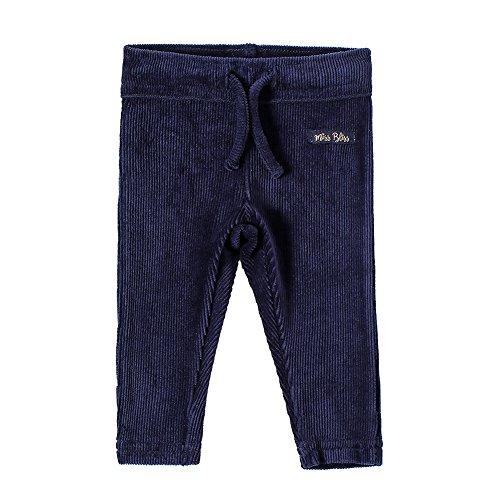 SNOW DREAMS Baby Girls Basic Corduroy Leggings Embroidered Navy 18M