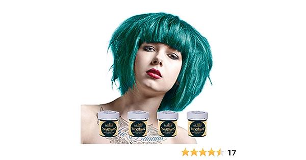 Tinte capilar de La Riche Directions Pack de 4 botes (Turquoise turquesa)