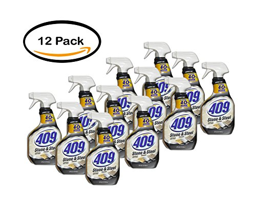 pack-of-12-formula-409-stone-and-steel-cleaner-spray-bottle-32-ounces