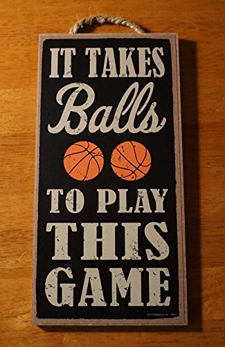 It Takes Balls To Play This Game Basketball Fan Coach Player Home Decor - Switchplate Basketball