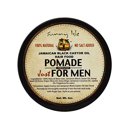 Sunny Isle Jamaican Black Castor Oil Hair Food Pomade for Men, 4 ()