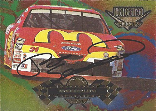 AUTOGRAPHED Bill Elliott 1998 Wheels High Gear Racing (#94 McDonalds Team) Vintage Signed Collectible NASCAR Trading Card with COA (94 Gear)