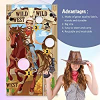 Western Party Cowboy Toss Games with 3 Bean Bags Fun Western Game for Kids and Adults in Western Themed Activities Western Cowboy Decorations and Supplies