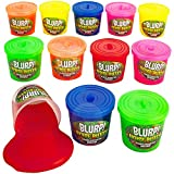 Kicko Noise Putty Slimes - 12 Gas Sound Slimes - Small Containers 1.5 Inches Assorted Colors - Toy for Kids, Boys, Girls, Party Favors, Gift Bags, Prizes
