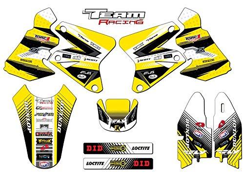 Team Racing Graphics kit for 2005-2018 Suzuki DRZ 400, ANALOGBase (Graphics Kit)