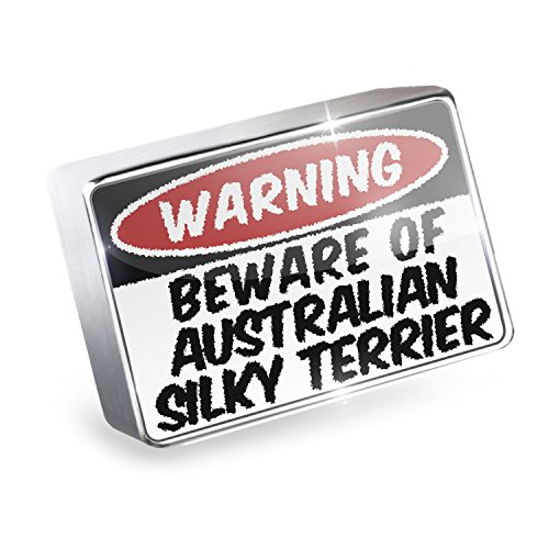 Floating Charm Beware of the Australian Silky Terrier Dog from Australia Fits G (Terrier Silky Charm)