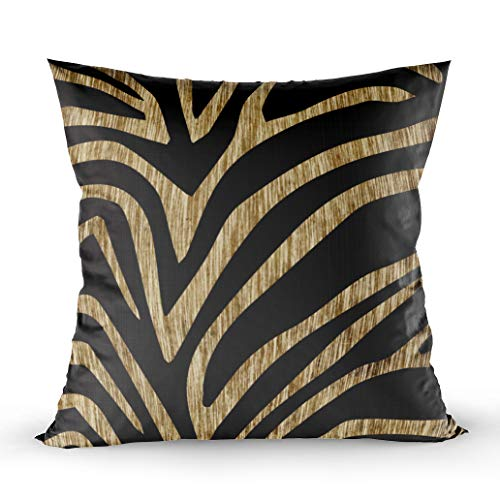 (EMMTEEY Home Decor Throw Pillowcase for Sofa Cushion Cover,Zebra Decorative Square Accent Zippered and Double Sided Printing Pillow Case Covers 20X20Inch)