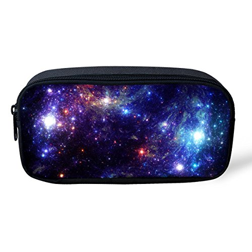 Cozeyat Pencil Bags Cool Designer Pen cases for School Students Stationery Galaxy Print]()