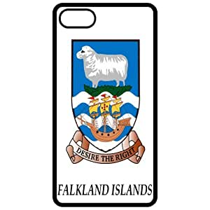 Falkland Islands - Coat Of Arms Flag Emblem Black Apple Iphone 5 Cell Phone Case - Cover