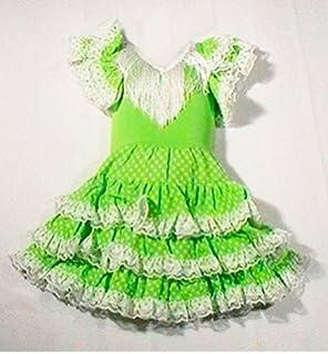 Vestido sevillana tres volantes niña - Único, 24 meses