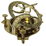 shaheera.nautical VINTAGE MARITIME ANTIQUE BRASS SUNDIAL COMPASS NAUTICAL DECOR GIFT A