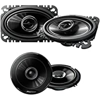 Pioneer TS-G4645R 200W 4 x 6 2-Way G-Series Coaxial Car Speakers ( PAIR) + Pioneer TS-G1645R 250W 6-1/2 2-Way G-Series Coaxial Car Speakers ( PAIR)