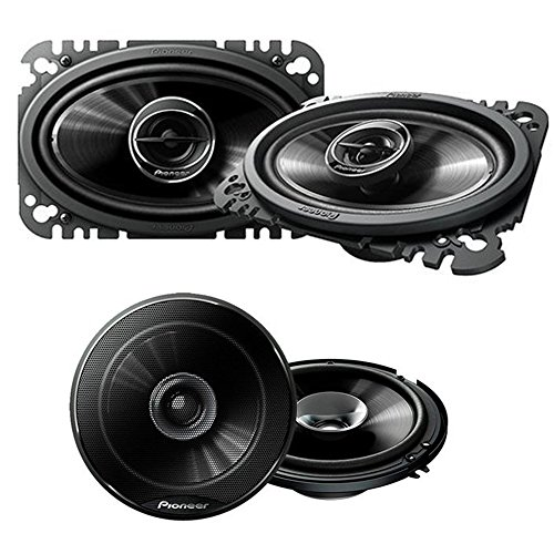 Series Power 2 Way - Pioneer TS-G4645R 200W 4 x 6 2-Way G-Series Coaxial Car Speakers (Pair) + Pioneer TS-G1620F 250W 6-1/2