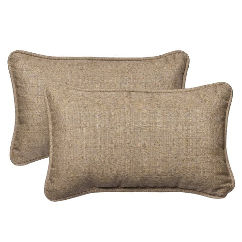Pillow Perfect Textured Sunbrella Rectangle
