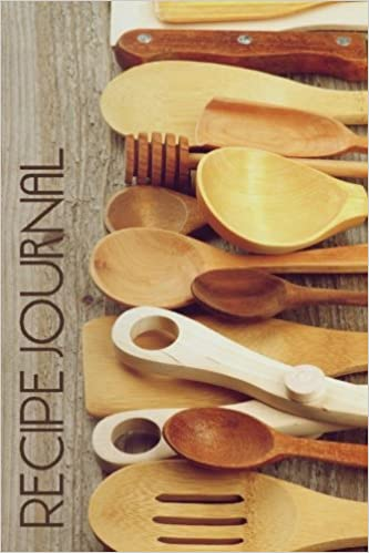 recipe journal retro rustic wooden spoons cooking journal lined