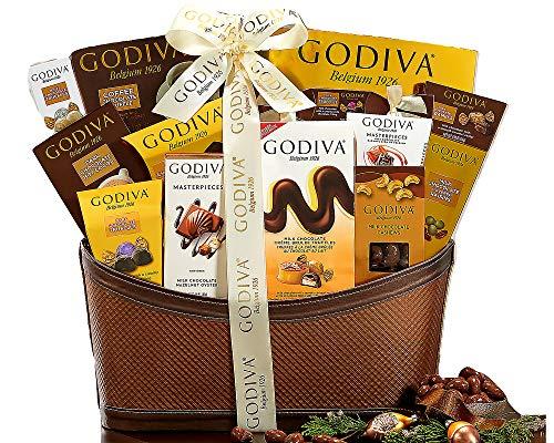 Godiva Wishes Chocolatier Classic Ribbon Signature Chocolate Lovers Gift Basket