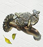 Solid Brass Faucet - Flowers with Bees