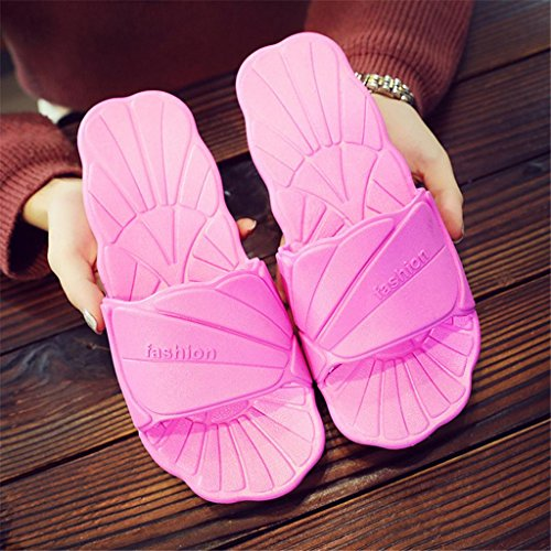 Slippers Ladies Shell pattern Indoor Bathroom Shower Non Slip Bubble Shoes 2 pair C