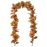 Artiflr 2 Pack Fall Maple Leaf Garland