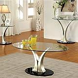 247SHOPATHOME IDF-4727C Coffee-Tables, Chrome