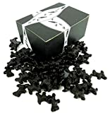 Gimbal's All Natural Black Licorice Scottie Dogs, 1 lb Bag in a BlackTie Box