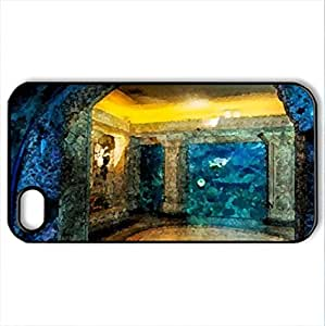 Beneath the blue - Case Cover for iPhone 4 and 4s (Watercolor style, Black)