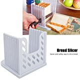 Bread Slicer Foldable And Adjustable Bread Toast Slicer Bagel Slicer Cutter Mold with 4 Slice Thicknesses (White)