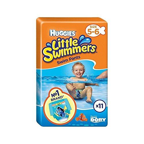 Huggies Little Swimmers Size 5-6 Medium 11 per pack - Pack of 4